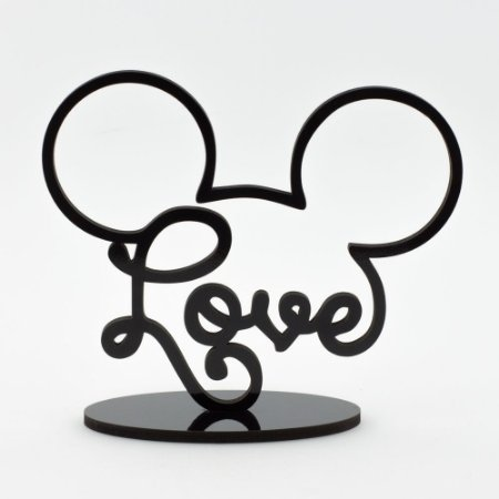 Letreiro Mickey Love - Preto