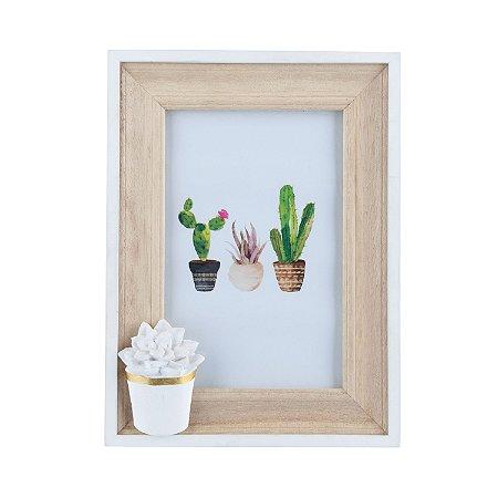Porta-retrato Cacto Flower - Grande