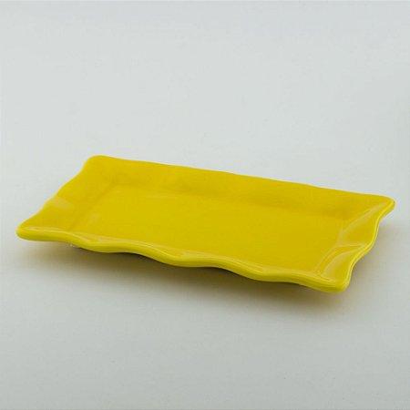 Travessa Babado Retangular - Amarelo Escuro