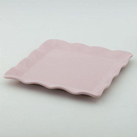Travessa Babado Quadrada - Rosa