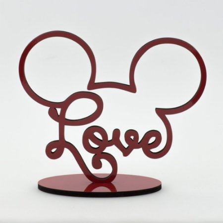 Letreiro Mickey Love - Vermelho
