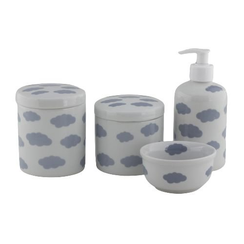 Kit Higiene Nuvem Cinza