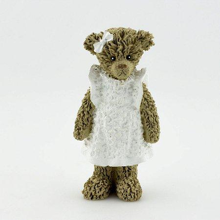 Ursinha de Resina - Branco em pé