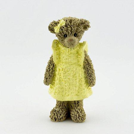 Ursinha de Resina - Amarelo em pé