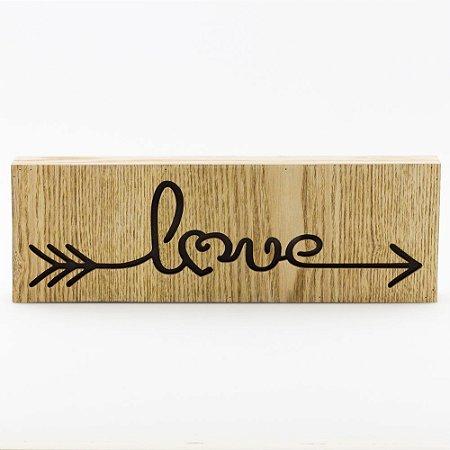 Caixa luminosa - Love