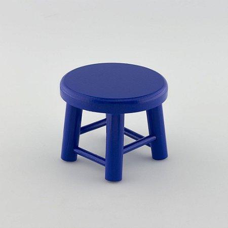 Banquinho de MDF P - Azul Escuro