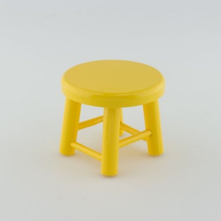 Banquinho de MDF P - Amarelo