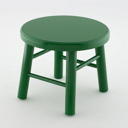Banquinho de MDF G - Verde escuro