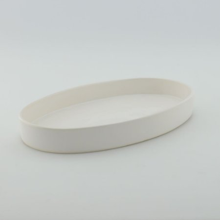 Bandeja oval de louça branca
