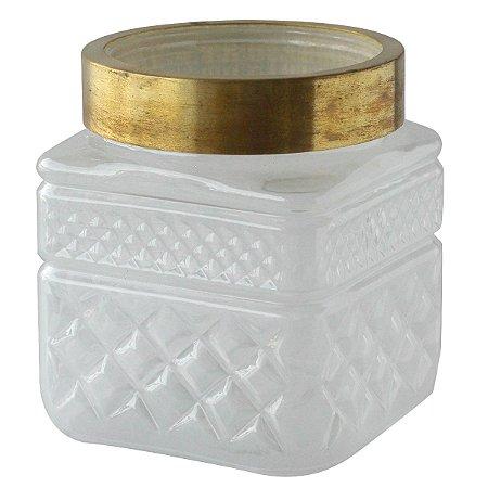 Vaso de vidro Colar Quadrado