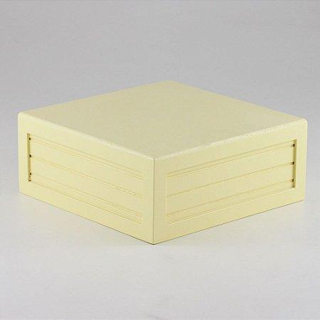 Caixa de altura lisa em MDF - Amarelo candy