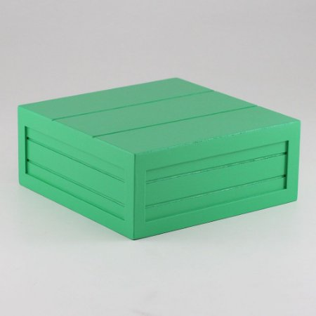 Caixa de altura com friso em MDF - Verde folha