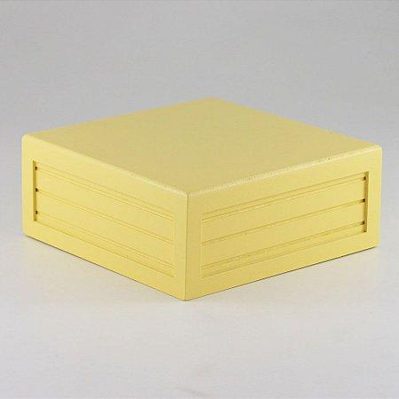 Caixa de altura lisa em MDF - Amarelo claro