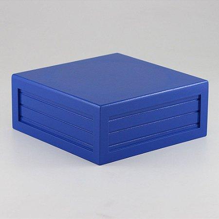 Caixa de altura lisa em MDF - Azul marinho