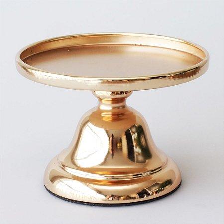Boleira de Metal Lisa - Cor de Ouro - Pequena