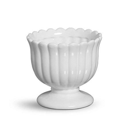 Cachepot médio branco algodão doce
