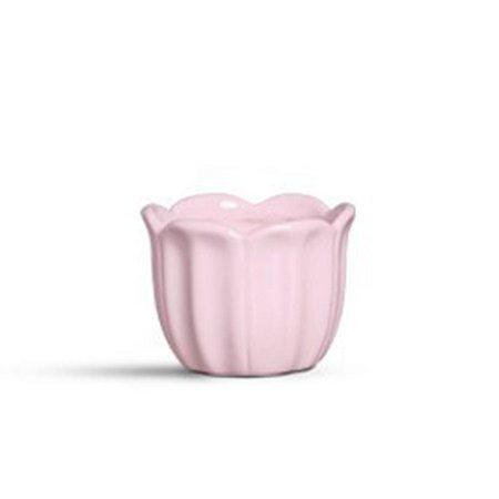 Cachepot pétalas médio rosa algodão doce