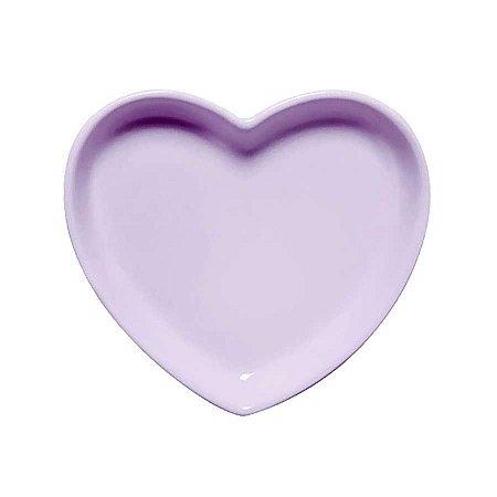 Travessa coração Lilás M (18x16cm)