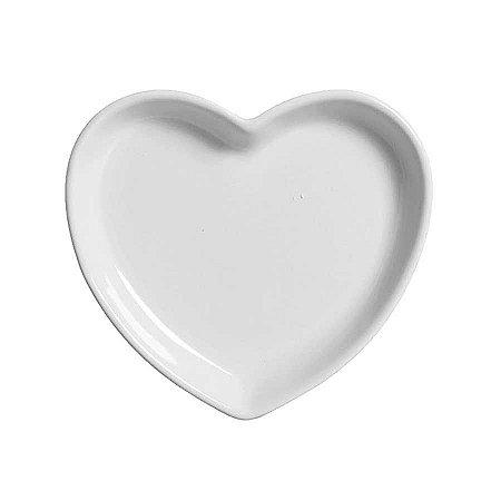 Travessa coração Branca M (18x16cm)