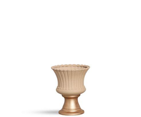 Vaso médio Bege e dourado