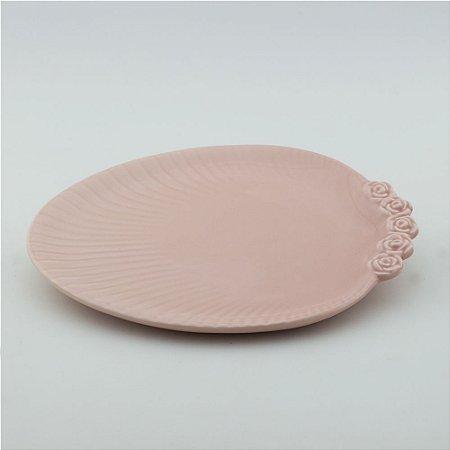 Prato Oval rosa - grande (26x33cm)