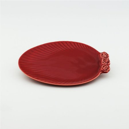 Prato Oval vermelho - pequeno (21x27cm)