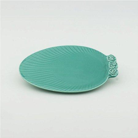 Prato Oval tiffany - pequeno (21x27cm)