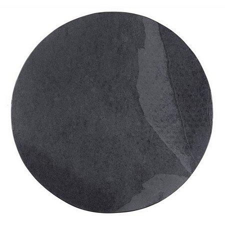 Prato redondo em Ardósia - Acabamento Liso (18cm)
