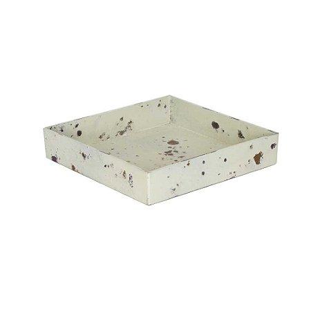 Bandeja Ferrugem quadrada - Bege (4x20x20cm)