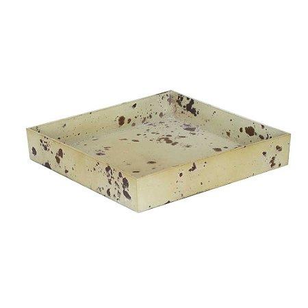 Bandeja Ferrugem quadrada - Bege (4x23x23cm)