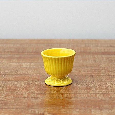 Cachepot canelado amarelo P (9x9cm)