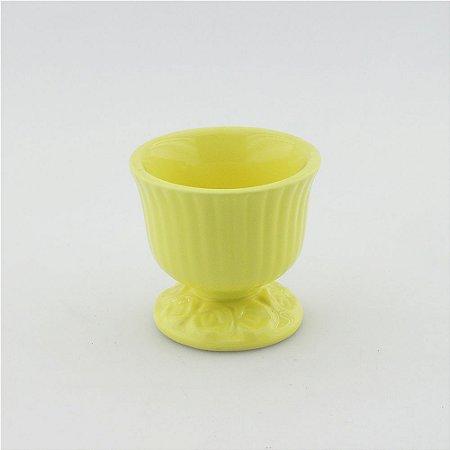 Cachepot canelado amarelo claro P (9x9cm)