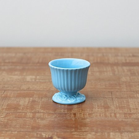 Cachepot canelado azul bebê P (9x9cm)