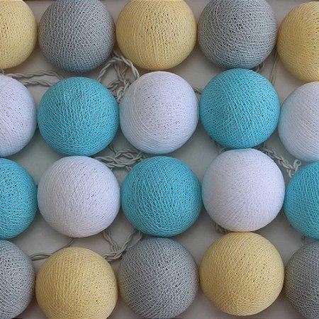 Cordão de Luz Cotton - Baby Blue (220V)