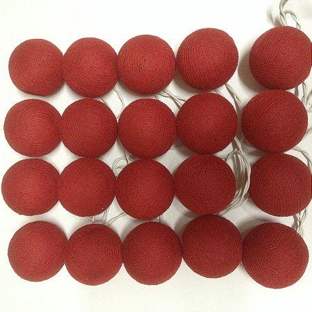 Cordão de Luz Cotton - Vermelho (220V)