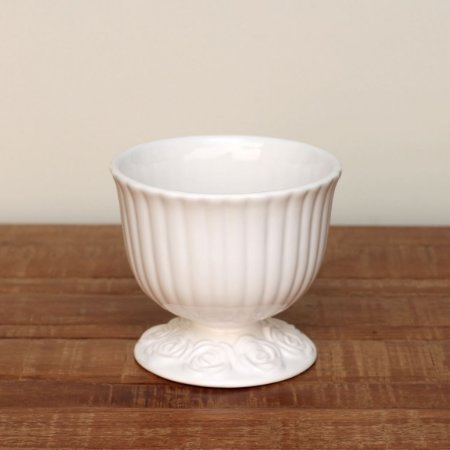 Cachepot canelado branco G (16x18cm)