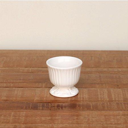 Cachepot canelado branco P (9x9cm)