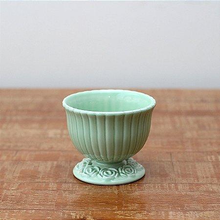 Cachepot canelado verde M (11x13cm)
