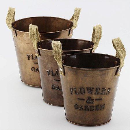 Cachepot Flower & Garden - cobre