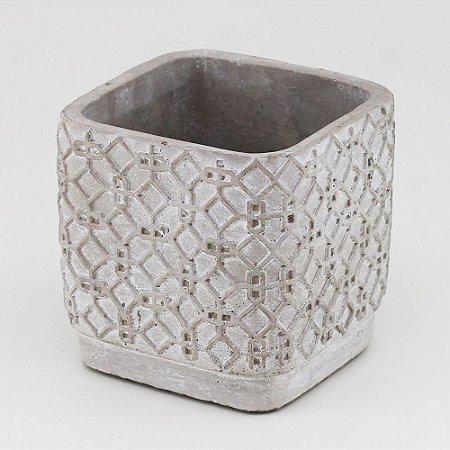 Vaso de Cimento quadrado 11x11cm