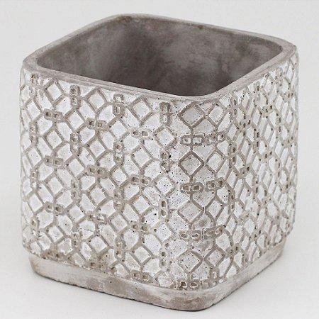 Vaso de Cimento quadrado 13x13,5cm