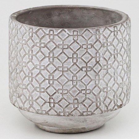 Vaso de Cimento redondo 16x14,5cm
