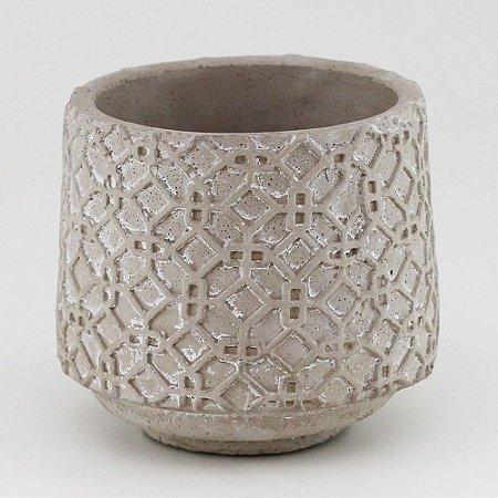 Vaso de Cimento redondo 11x10,5cm