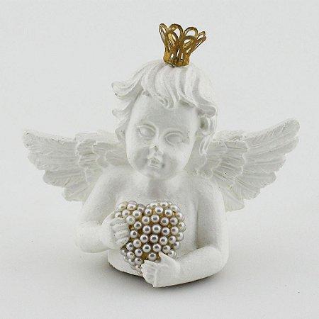 Anjo com coração - Asas brancas