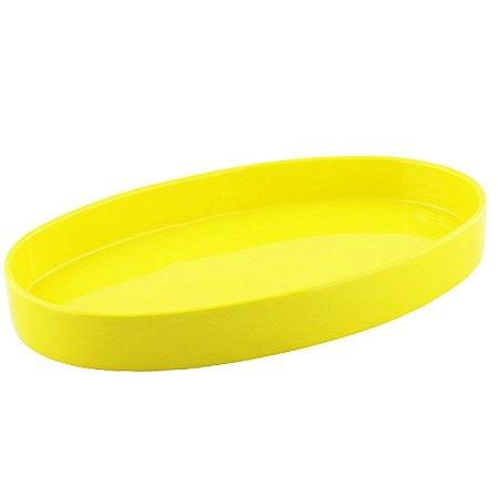 Bandeja oval de louça amarela