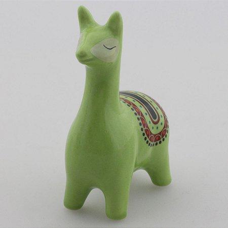 Lhama de louça - Verde