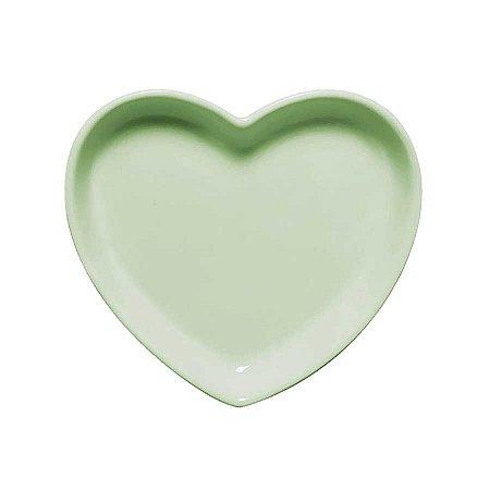 Travessa coração Verde M (18x16cm)