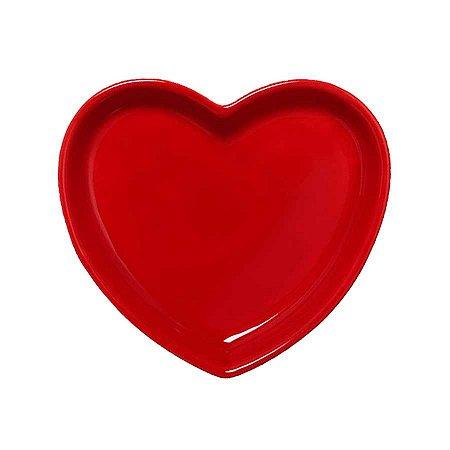 Travessa coração Vermelha M (18x16cm)