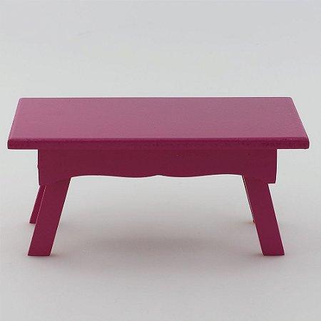 Banquinho Retangular em MDF - Pink