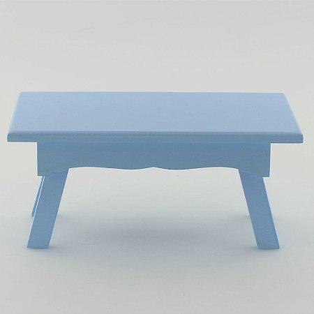 Banquinho Retangular em MDF - Azul claro